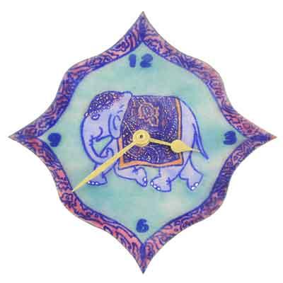 elephant-clock-turquoise