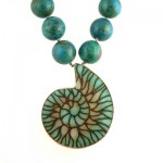 Ammonite-Pendant-with-Chryscolla