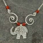 New Silver Elephants and Silver Ammonite Fossils in my Folksy Shop