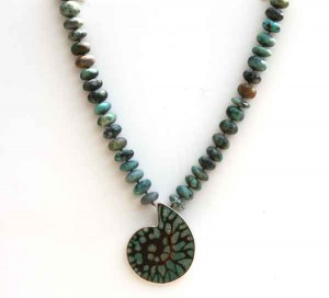 Turquoise-Fossil-with-Knotted-Turquoise-beads-3