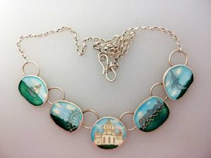Map of Memories Necklace Brighton