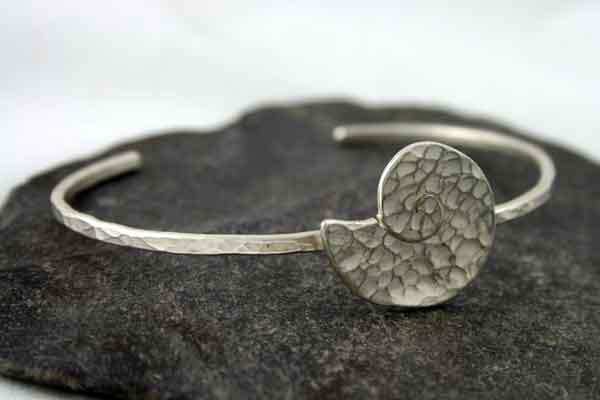 Silver Fossil Cuff