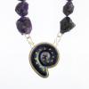Ammonite-Fossil-with-Rough-Cut-Amethyst