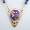Angel-Necklace-with-Lapis-Beads-and-gold-stars