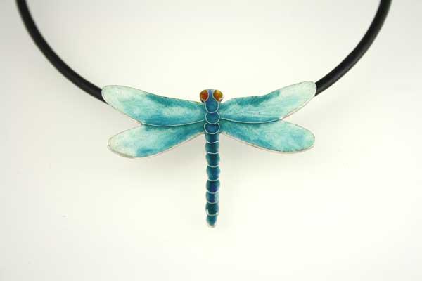 Dragonfly-Pendant-cloisonne