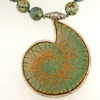Ammonite-Pendant-with-African-turquoise-and-pyrite