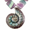 Ammonite-Pendant-with-Fluorite
